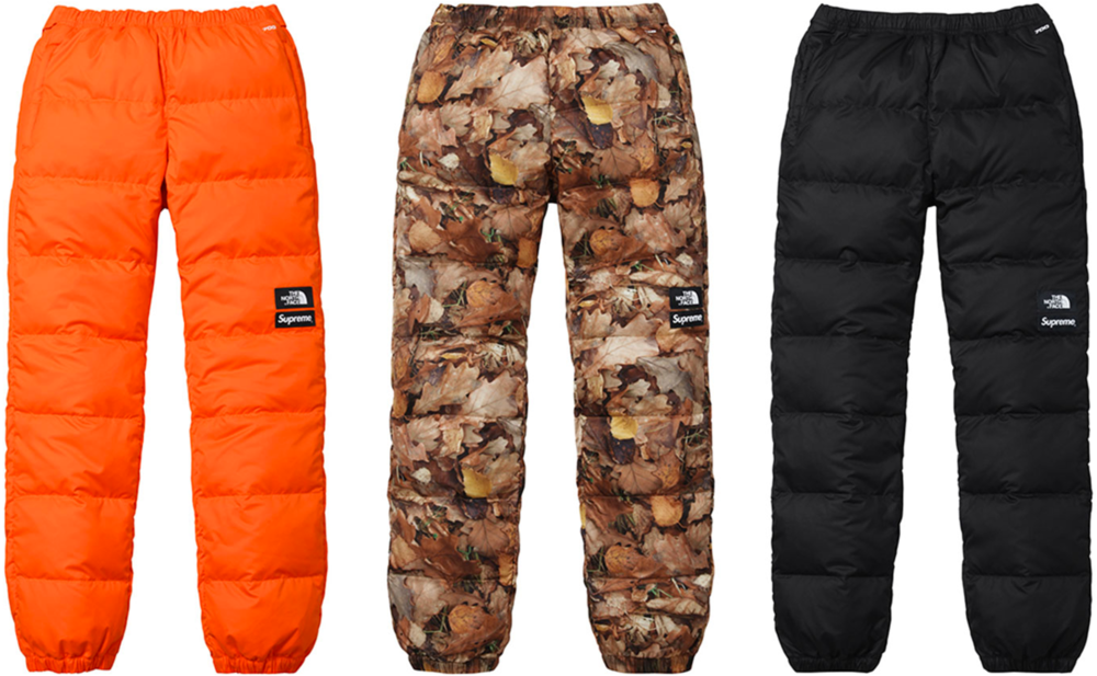 Supreme x The North Face Nuptse Pant, $218