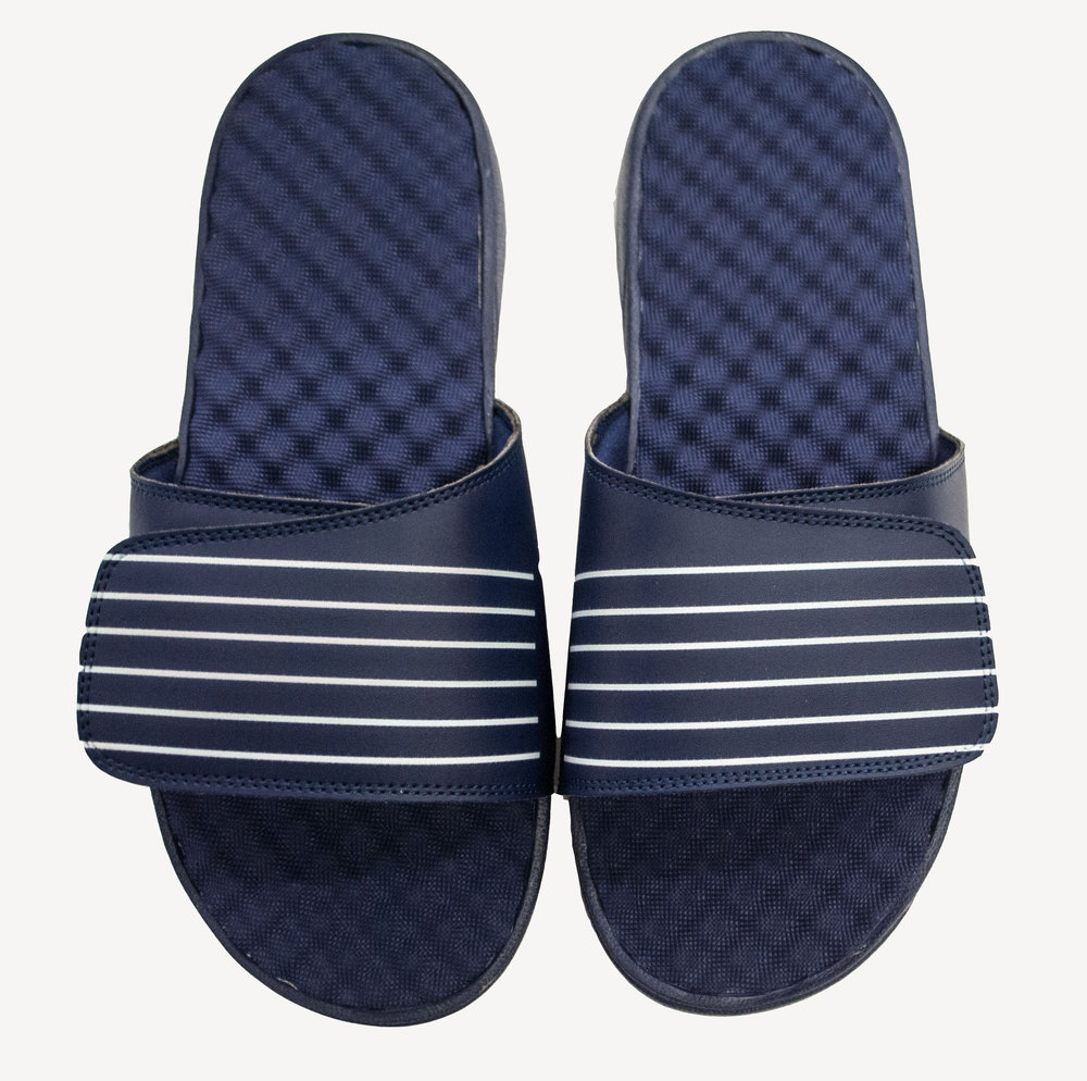 Grungy Gentleman Mens Slides Navy White