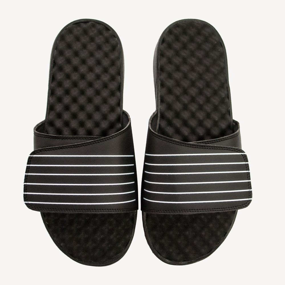 Grungy Gentleman Mens Slides Black White