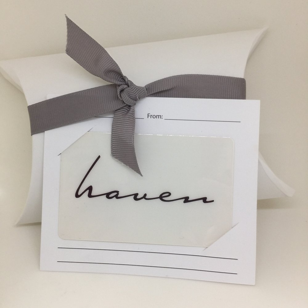 Haven Spa, Prices Vary