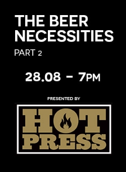 beer necessities talk august 28th 7pm