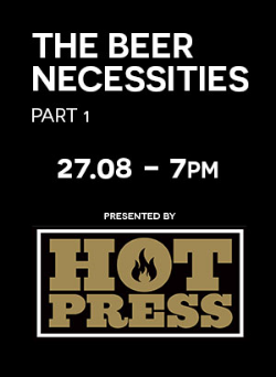 beer necessities talk august 27th 7pm