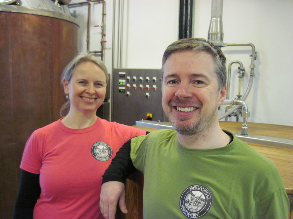 Bridewell Brewery's Barbara-Anne McCabe and Harry Joyce (2).JPG