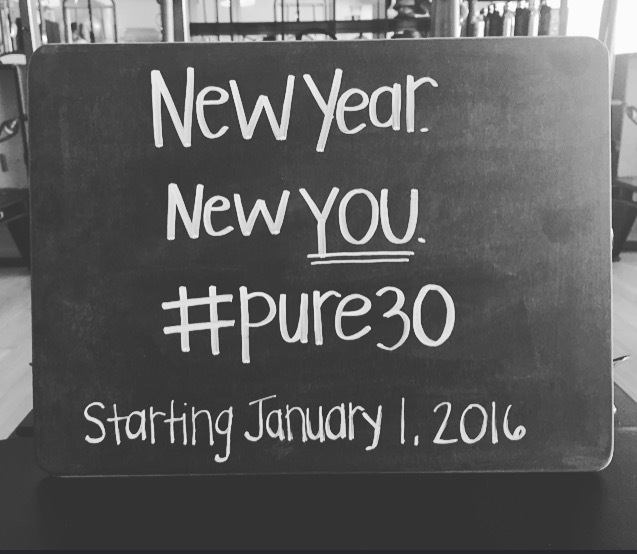 new year new you. #pure30