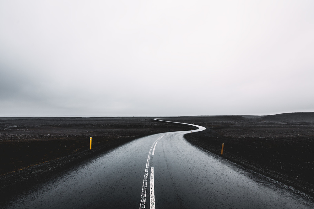 The road to Dettifoss