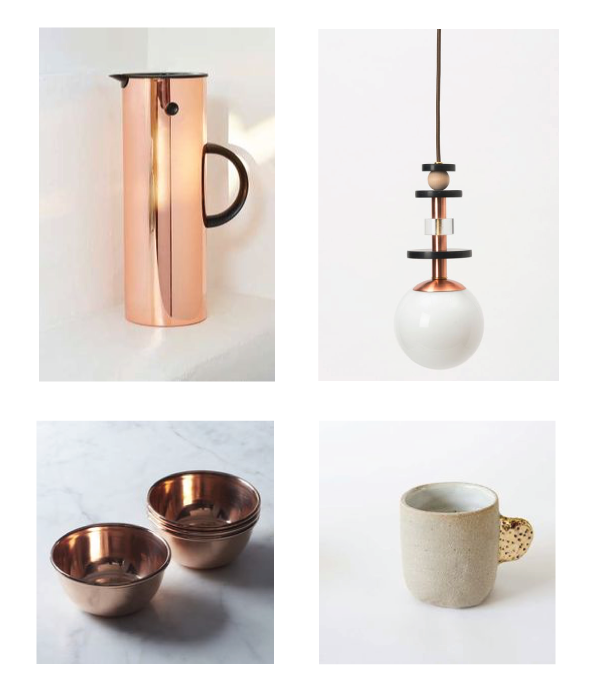 metallic jug //l adies and gentleman light // metallic handle mug // copper bowls