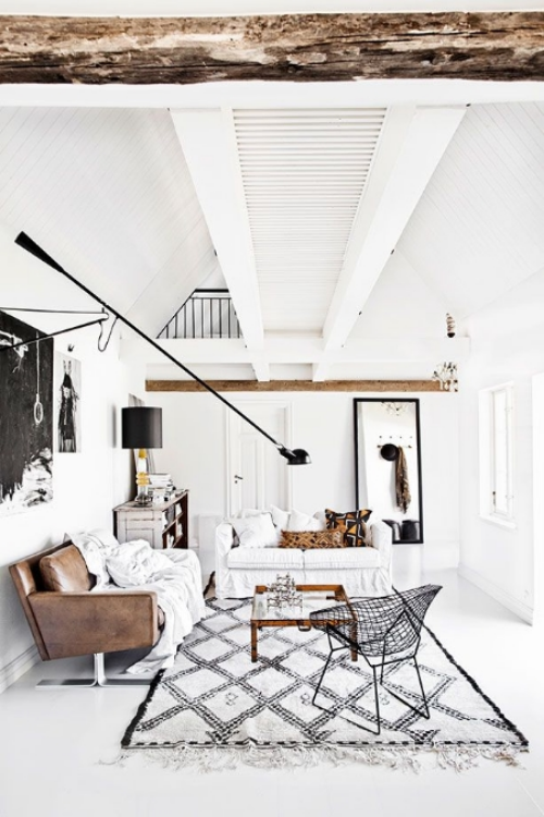 And finally, this stunning monochromatic living room