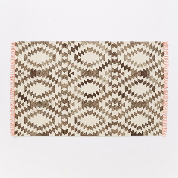 Palmette Chenille Wool Kiiim Rug from West Elm