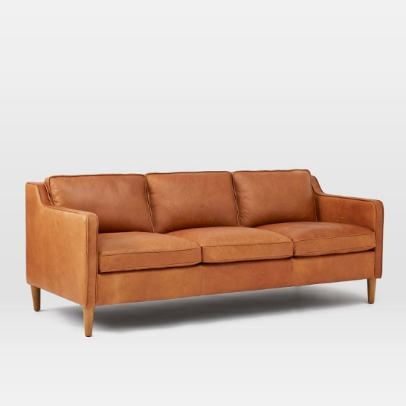 Hamilton Leather Sofa from West Elm