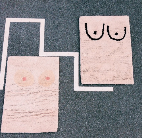 A nice pair of boob rugs from Cold Picnic