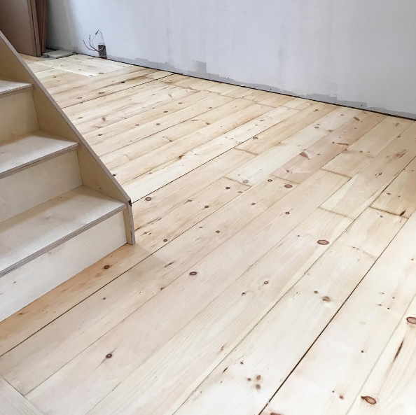 old restored floors & new stairs