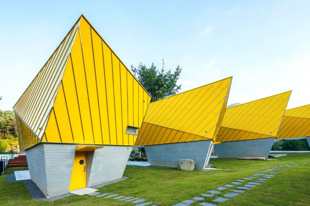 Asymmetric Vivid Yellow Pavillon
