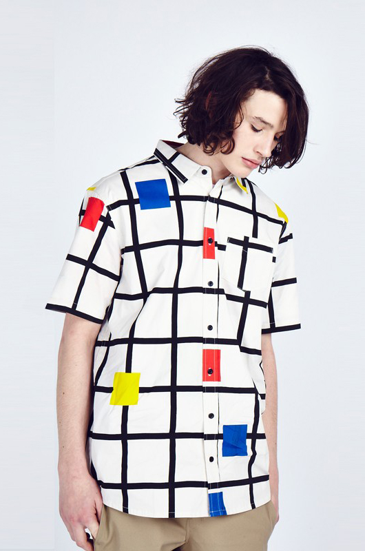 Square Grid Short Sleeve Shirt