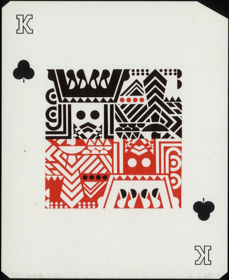 Antique playing card.