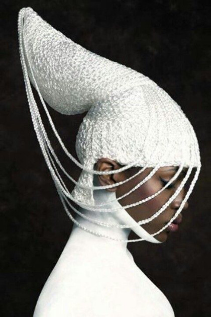 Sculptural headpiece