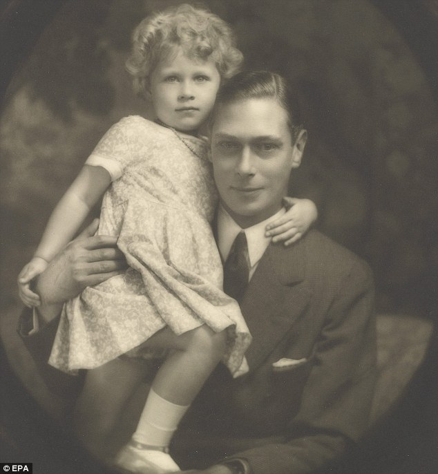 Child Queen: Elizabeth with her father King George VI, July 1929