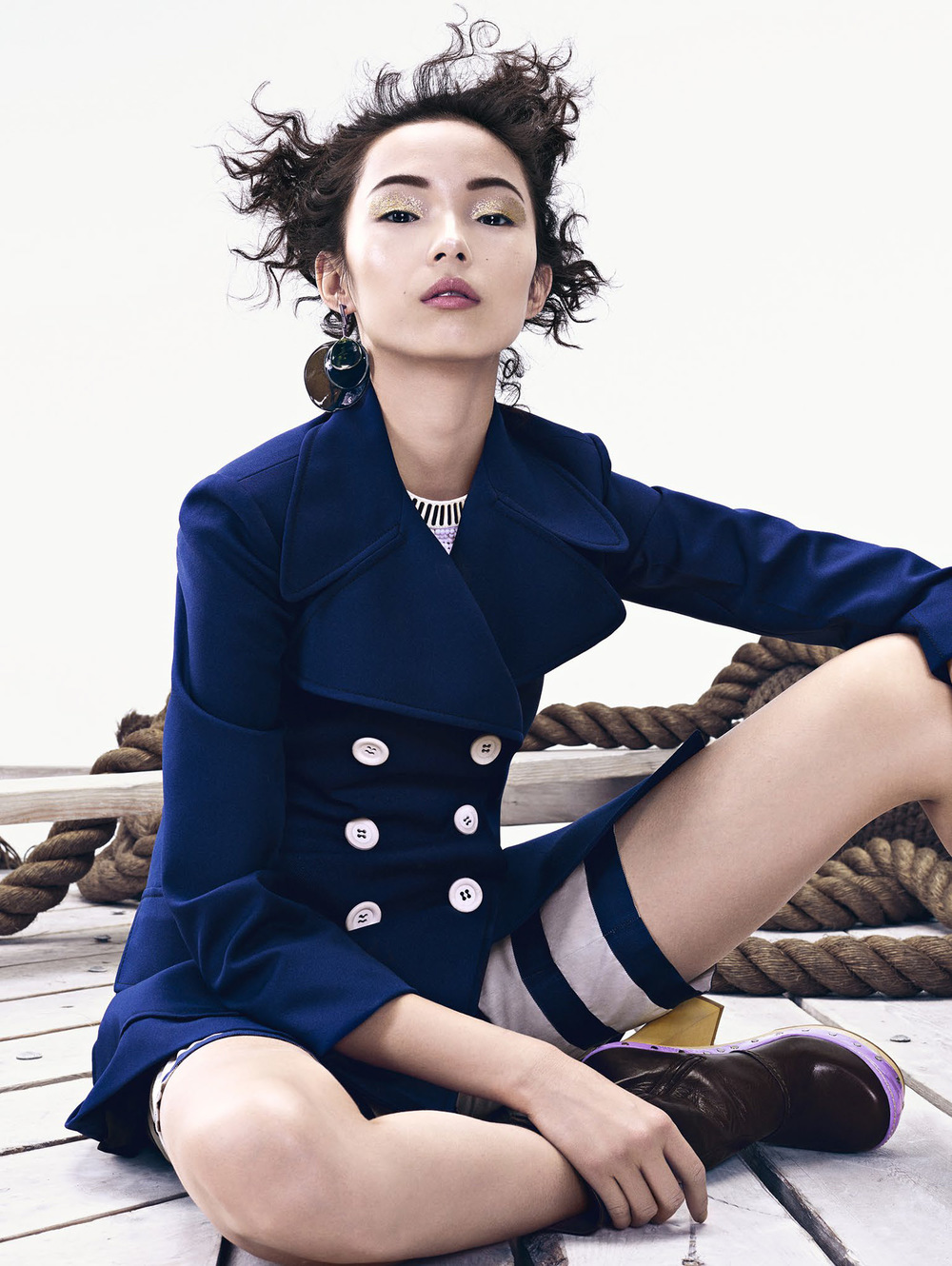 Xiao Wen Ju by Sharif Hamza for Vogue China June 2015
