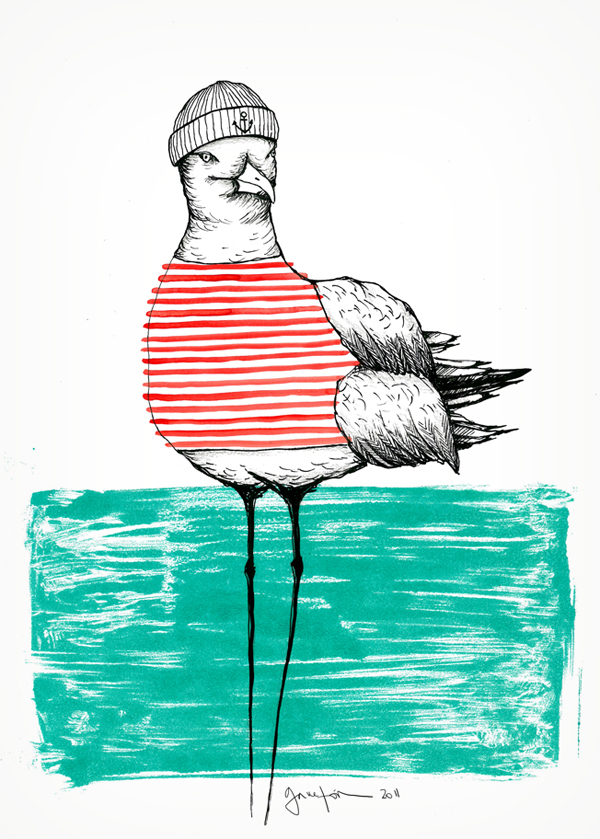 SEAGULL WITH STRIPES, 2011