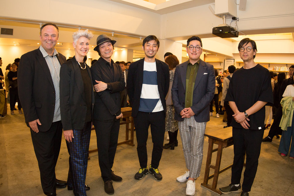 Mark and Astrid with fellow DESIGNART Founders at the press conference