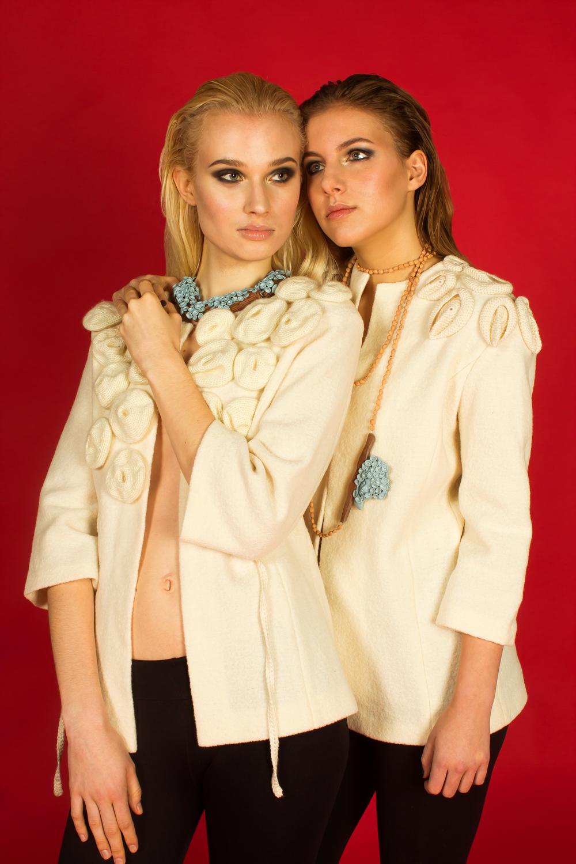 Seamless wool jackets: Anu Hint Jewellery: Birgit Skolimowski
