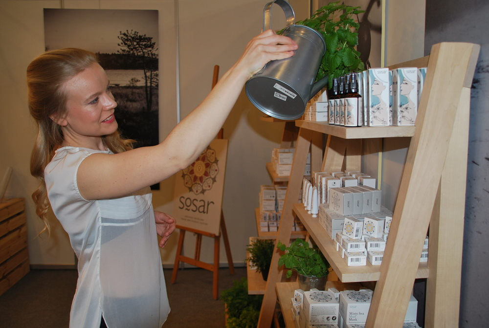 Piret Laasik, founder of the Estonian eco beauty brand Sõsar
