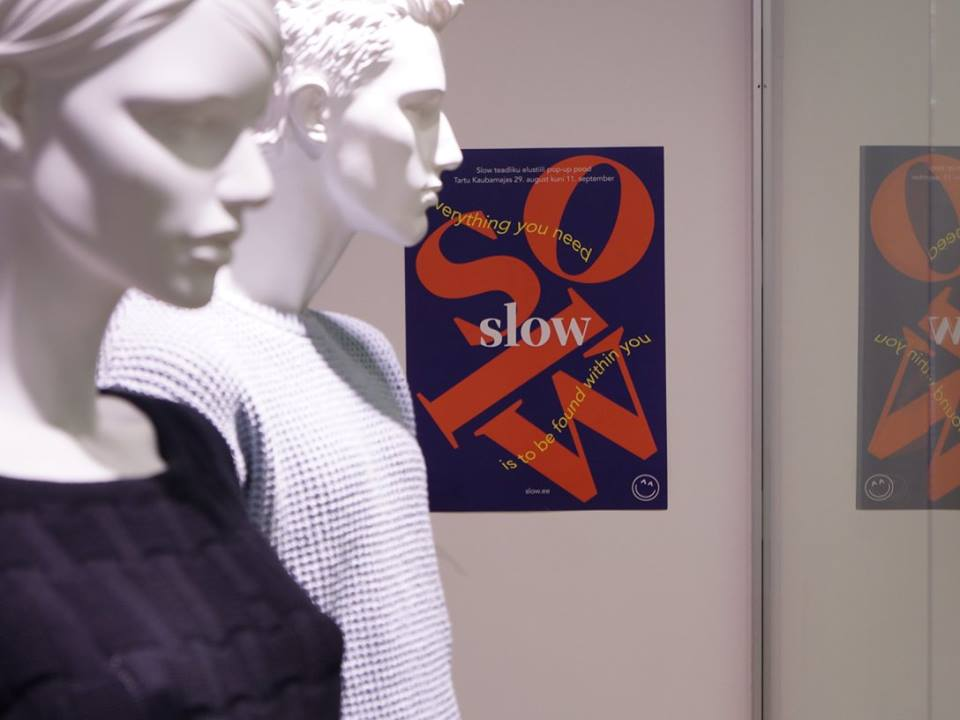 Slow.ee PopUp at Tartu Kaubamaja, September 2016