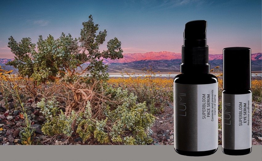 LUMI Superbloom Face and Eye Serum.