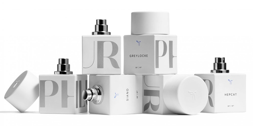 Selection of sustainable fragrances by PHLUR.