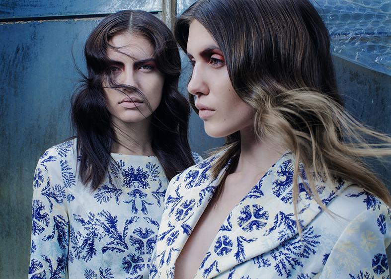 Photography: Ulrich Hartmann / Styling: Konstantinos Gkoumpetis / Models: Dasha Cherdanceva & Josephine Conen.