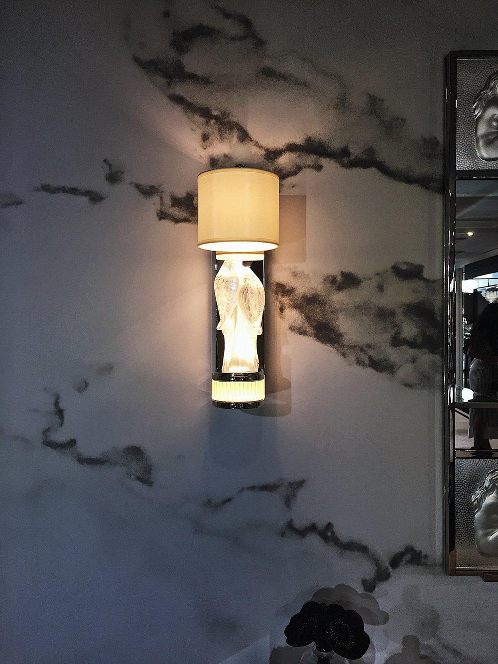 Lalique x Pierre-Yves Rochon: Signature: PERRUCHES Applique #Savant -