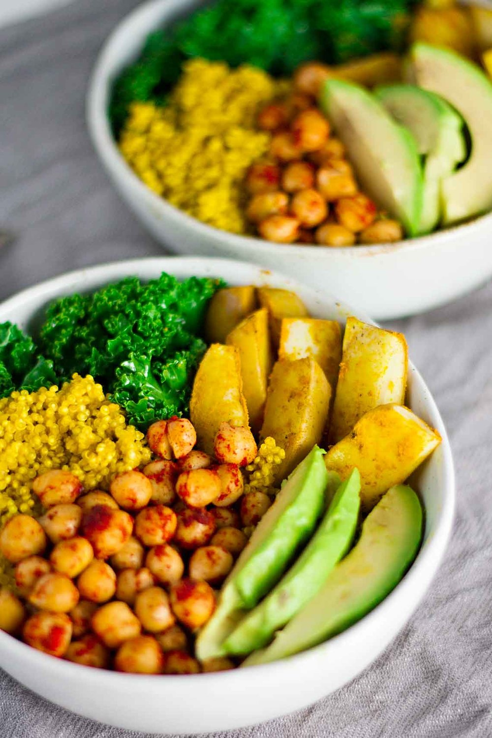 Vegan Turmeric Quinoa Power Bowl  - Source: Jaroflemons.com
