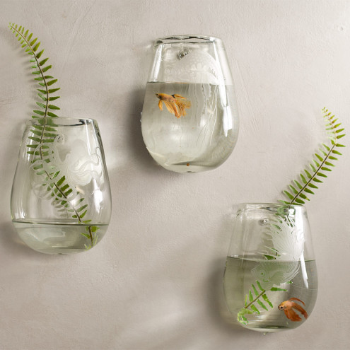 Vivaterra:Recycled Glass Aquatic Life Wall Vase