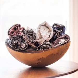 A bowl of beauty. Organic, global fabrics as pictured on the Saving Grace   Instagram   feed.