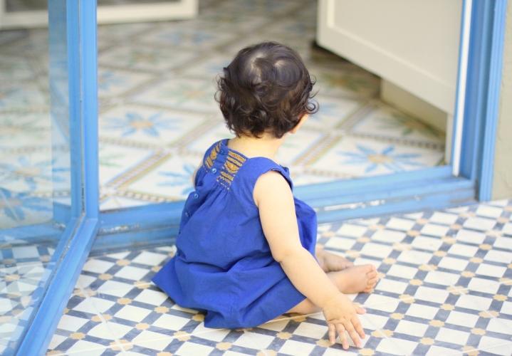 Little Scarlett in blue, by  Emily Ulmer