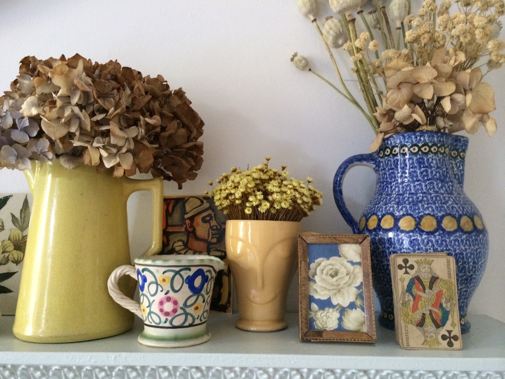 Composed vignettes of beloved vintage finds.