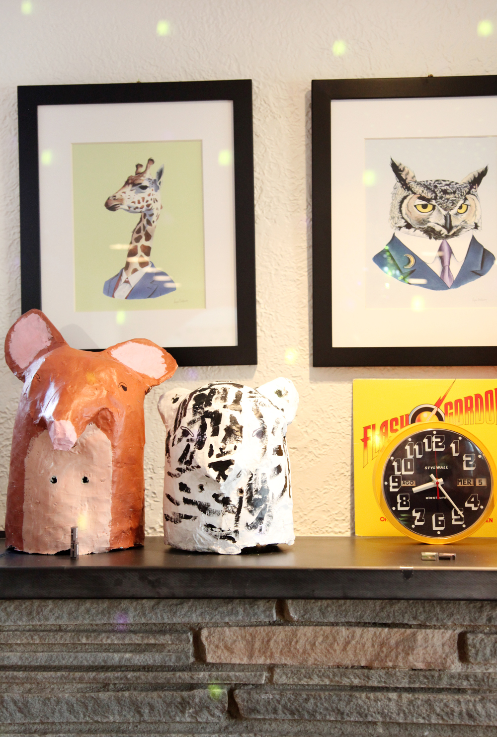 Heather currently focuses on private custom commissions that usually involve animals, puffballs, or market zodiac animal totems. This family   mask project   is one of our favorites!