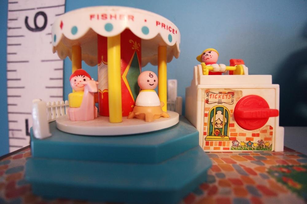 Vintage toys from Julie's childhood.