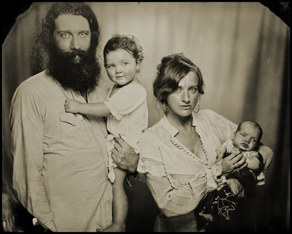 Tintype portrait by  Lumiere .