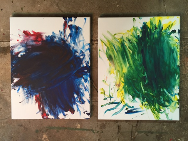 A few of Susannah's paintings she does side-by-side with papa