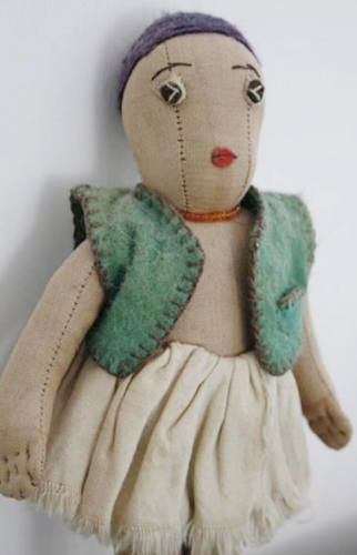 A found 20's primitive rag doll.