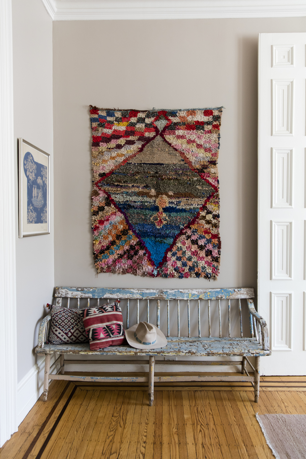 """I'm pretty obsessed with textiles and this house gives plenty of options to showcase them!"""