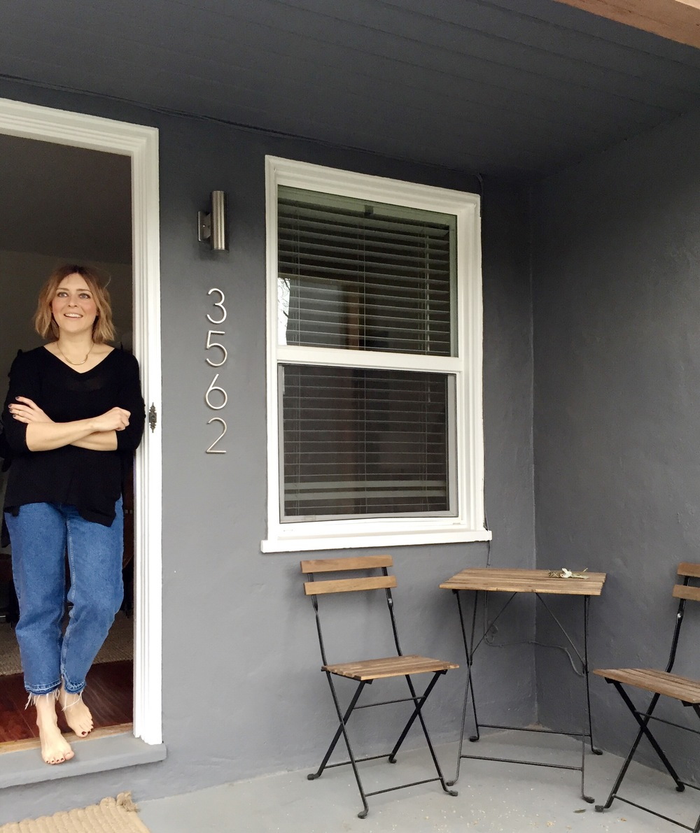 Olga lets us in her little craftsman in the picturesque neighborhood of East Sacramento.