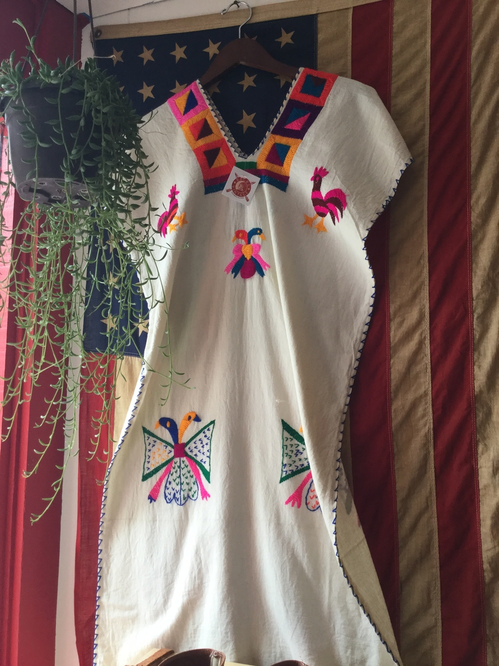 Oaxacan dress and Americana spirit.