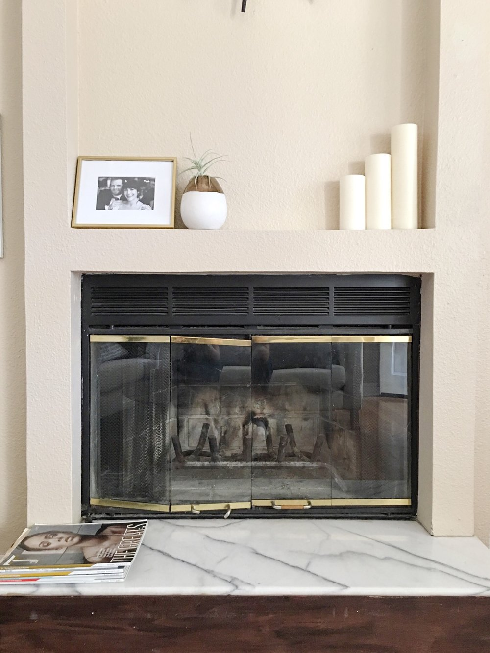 Marble Fireplace.