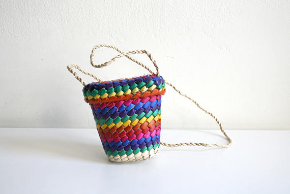 Rainbow Mini Basketbag