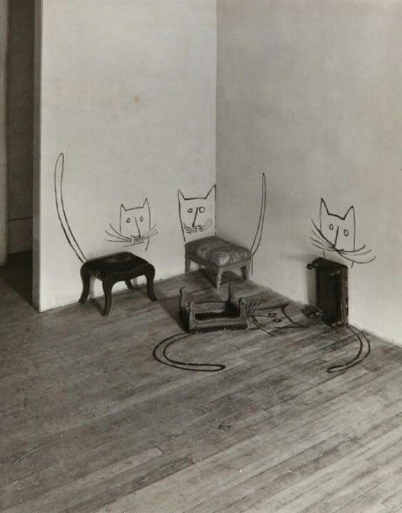 Stool Cats, Saul Steinberg