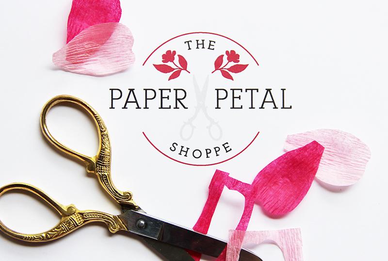 The paper petal shoppe branding
