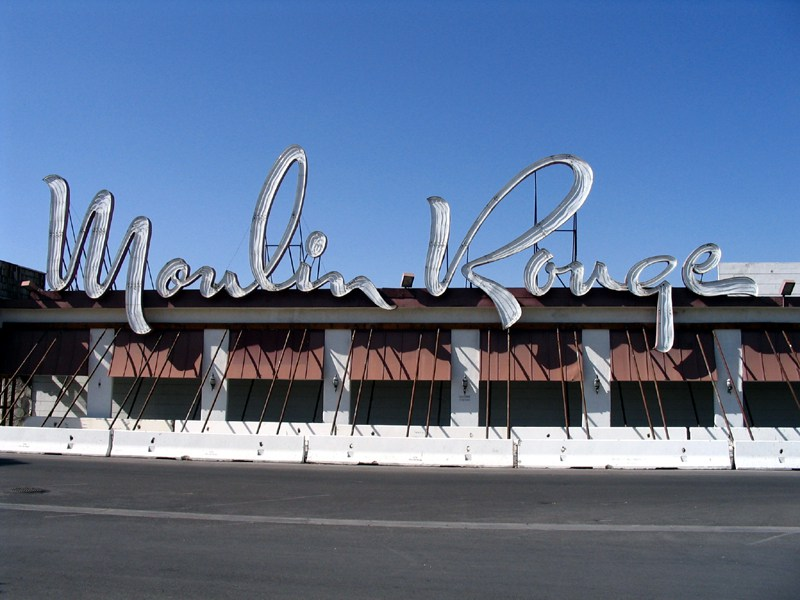 Image via, you can actually see this sign at the Neon Museum in Las Vegas in their 'neon boneyard'!