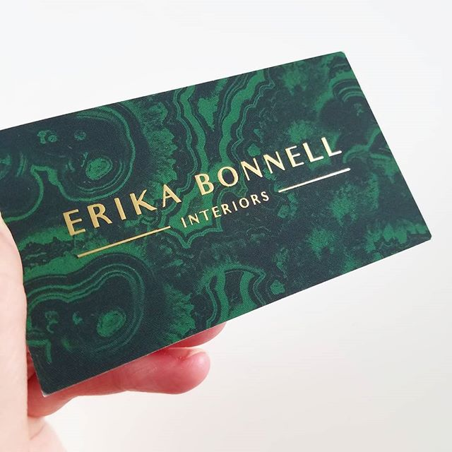 While reorganising my office recently, I came across this business card I designed for @erikabonnell. I can't believe I never posted a photo of it! That gold foiling is 😍