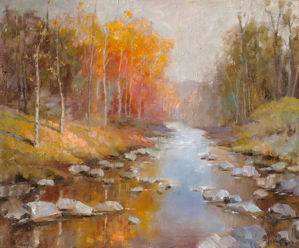 A Stream in Autumn (Berkshires, Massachusetts)